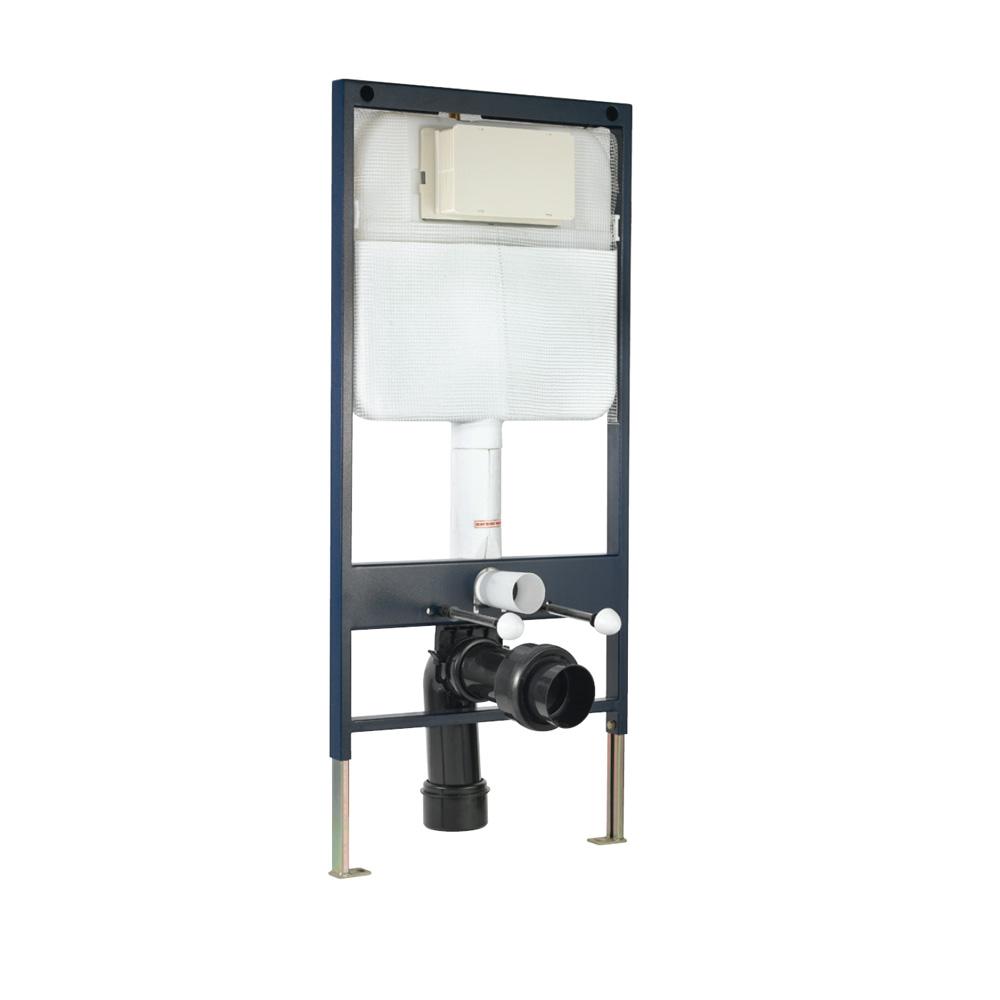 Pneumatic Single Piece Slim In-wall Cistern