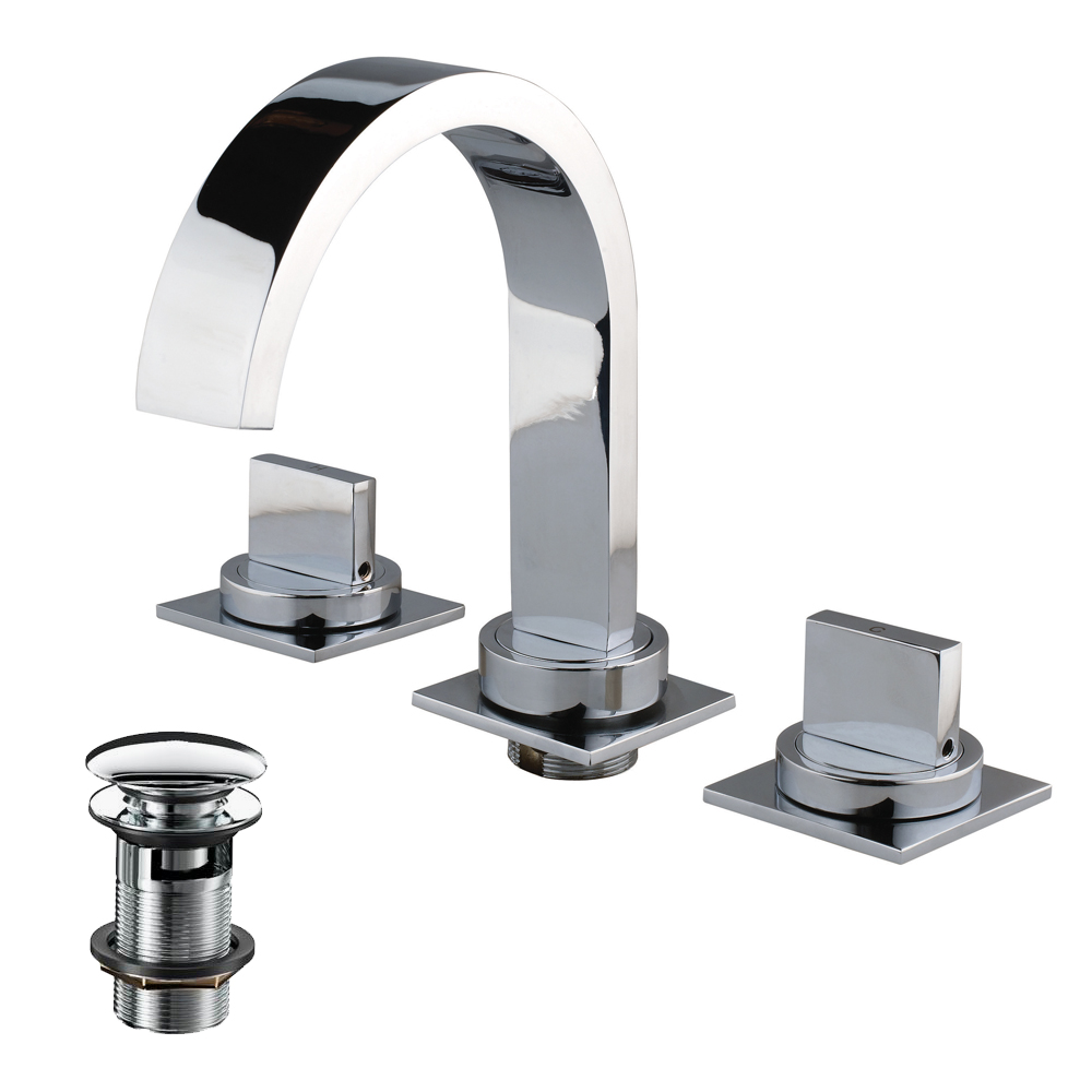3 Hole Basin Mixer with Pop-up Waste