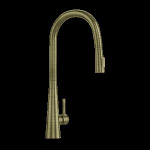 FLO2 Single Lever Pulldown Conical Sink Mixer-Antique Bronze