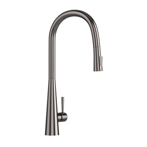 FLO2 Single Lever Pulldown Conical Sink Mixer-Black Chrome