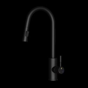 FLO2 Single Lever Pulldown Sink Mixer-Black Matt