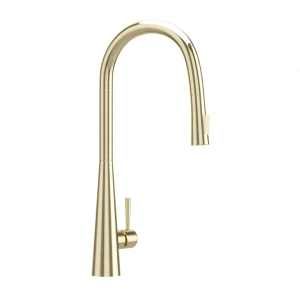 FLO2 Single Lever Pulldown Conical Sink Mixer-Gold Dust