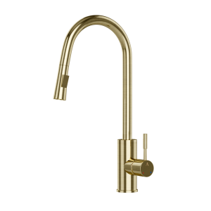 FLO2 Single Lever Pulldown Sink Mixer-Gold Dust