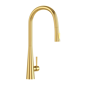FLO2 Single Lever Pulldown Conical Sink Mixer-Full Gold