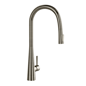 FLO2 Single Lever Pulldown Conical Sink Mixer-Stainless Steel