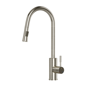 FLO2 Single Lever Pulldown Sink Mixer-Stainless Steel