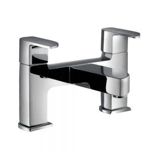 2 Hole H Type Bath Filler-Black Matt