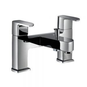 2 Hole H Type Bath and Shower Mixer-White Matt