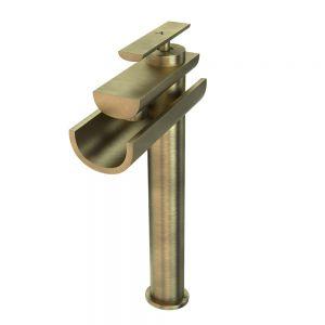 Single Lever High Neck Basin Mixer-Antique Bronze