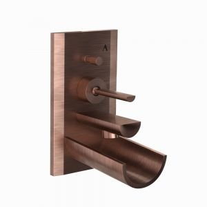 Exposed Part Kit of Joystick in-wall Diverter-Antique Copper