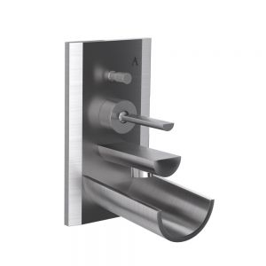 Exposed Part Kit of Joystick in-wall Diverter-Stainless Steel