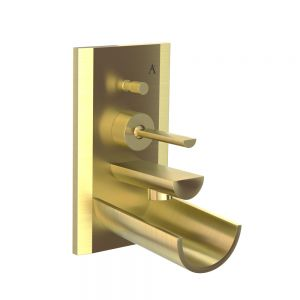 Exposed Part Kit of Joystick in-wall Diverter-Gold Dust