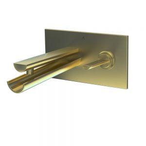 Joystick in-wall Basin Mixer-Gold Dust
