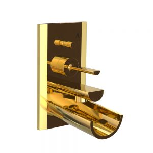 Exposed Part Kit of Joystick in-wall Diverter-Full Gold