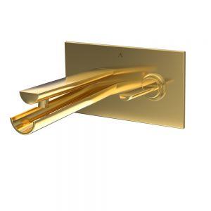 Joystick in-wall Basin Mixer-Full Gold