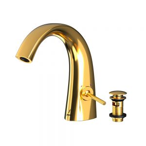 Mono Basin Mixer with Click Clack Waste - Full Gold