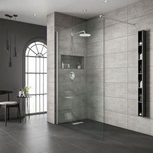 Free Standing Bathscreen-Chrome Frame | Clear Glass-800