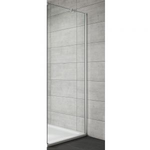 Side Panel For Hinge & Inswing Door-Chrome Frame | Clear Glass-700