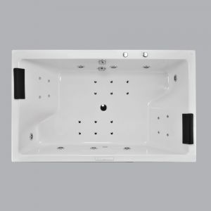 Kubix Prime Whirlpool And Airpool Combi System-Black Chrome