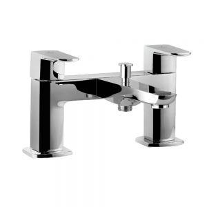 2 Hole H Type Bath and Shower Mixer-Black Chrome