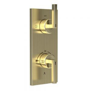 In-wall Thermostatic Shower Valve with 2-Way Diverter-Gold Dust