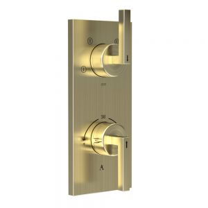 In-wall Thermostatic Shower Valve with 4-Way Diverter-Gold Dust