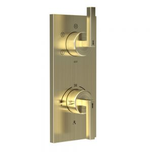 In-wall Thermostatic Shower Valve with 5-Way Diverter-Gold Dust