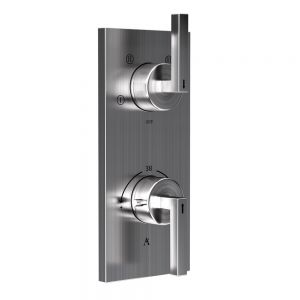 In-wall Thermostatic Shower Valve with 4-Way Diverter-Stainless Steel