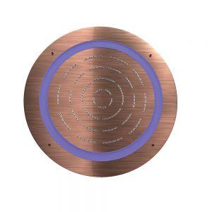 Maze Prime Round Shape Single Function Shower-Antique Copper