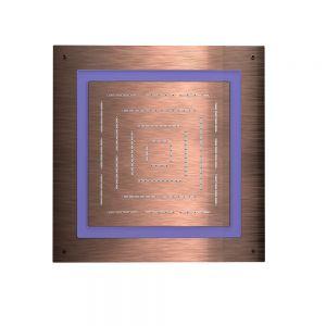 Maze Prime Square Shape Single Function Shower-Antique Copper