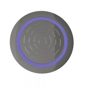 Maze Prime Round Shape Single Function Shower-Black Chrome
