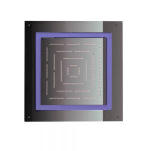 Maze Prime Square Shape Single Function Shower 450 X 450mm-Black Chrome