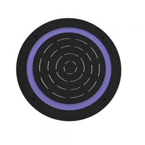 Maze Prime Round Shape Single Function Shower-Black Matt