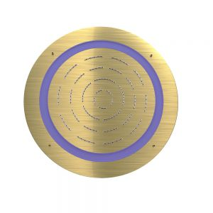 Maze Prime Round Shape Single Function Shower-Gold Dust