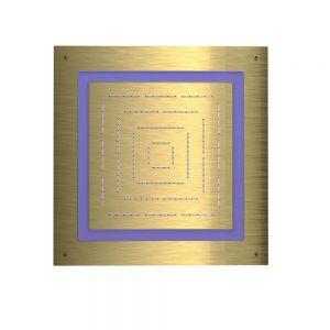Maze Prime Square Shape Single Function Shower-Gold Dust