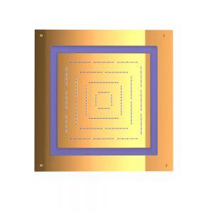 Maze Prime Square Shape Single Function Shower-Full Gold