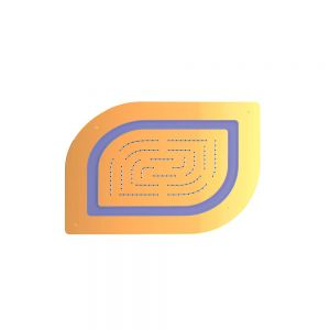 Maze Prime Single Function Shower-Full Gold