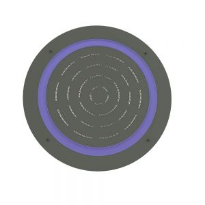 Maze Prime Round Shape Single Function Shower-Graphite