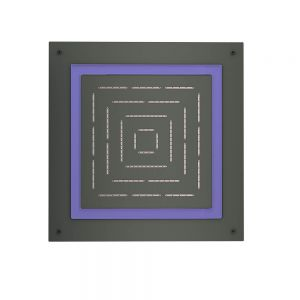 Maze Prime Square Shape Single Function Shower-Graphite