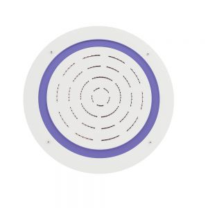 Maze Prime Round Shape Single Function Shower-White Matt