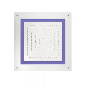 Maze Prime Square Shape Single Function Shower-White Matt