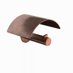 Toilet Paper Holder with Cover-Antique Copper