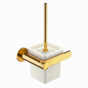 Toilet Brush & Holder-Full Gold