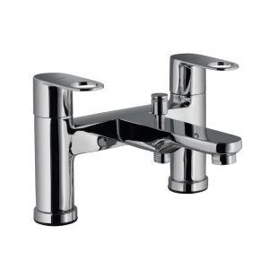 2 Hole H Type Bath and Shower Mixer-Black Matt