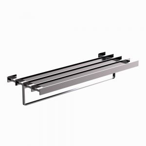 Towel Shelf 600mm Long-Black Chrome