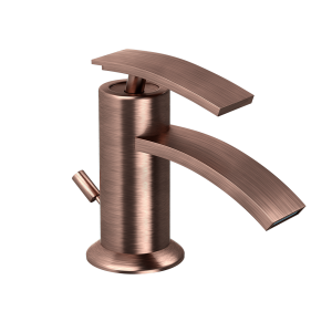 Single Lever Bidet Mixer with Popup Waste-Antique Copper
