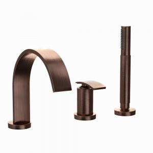 3-Hole Bath & Shower Mixer-Antique Copper