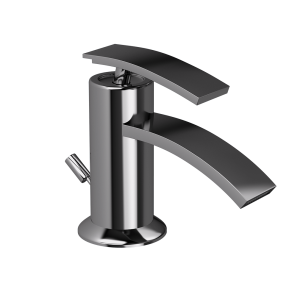 Single Lever Bidet Mixer with Popup Waste-Black Chrome