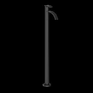 Floor Mounted Single Lever Basin Mixer-Black Matt