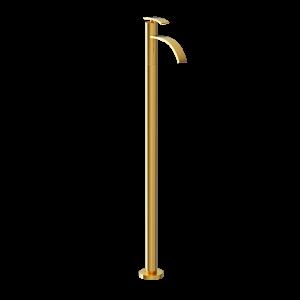 Floor Mounted Single Lever Basin Mixer-Full Gold